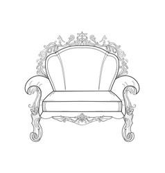 Baroque furniture rich armchair handmade vector