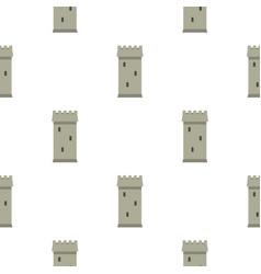 Battle tower pattern seamless vector