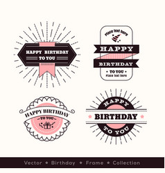 Birthday logo frame design element vector
