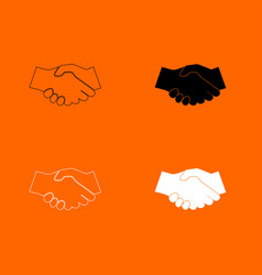 Business handshake icon vector