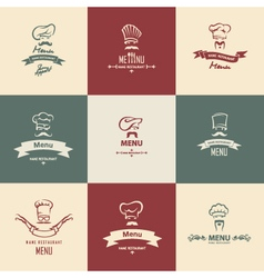 chef menu set vector image vector image