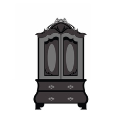 Classic royal ornamented glass case vector