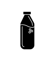 Contour delicious and freshment natural juice vector