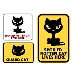 Danger cat vector