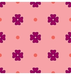 Flowers geometric seamless pattern 1605 vector image