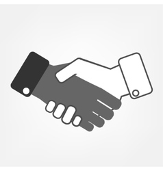 Hand shaking vector image
