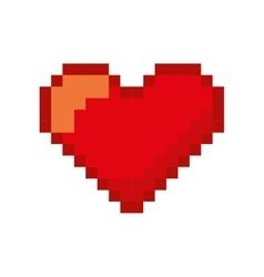 Heart love pixelated icon vector