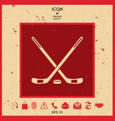 hockey icon vector image vector image