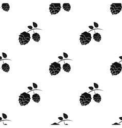Hops icon in black style isolated on white vector