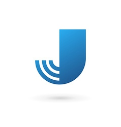Letter j wireless logo icon design template vector