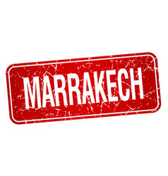 Marrakech red stamp isolated on white background vector