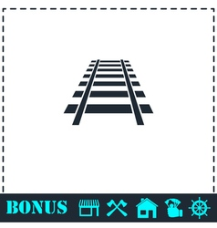 Railway icon flat vector