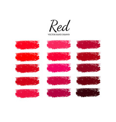 Set of various lipstick smears 2 vector