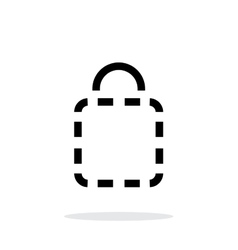 Shopping bag absent simple icon on white vector