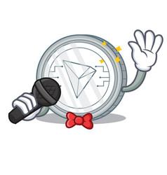 Singing tron coin character cartoon vector