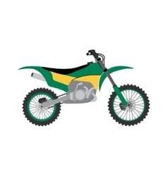 Sport bike silhouette transport power vector