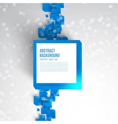 Square abstract background card blue vector