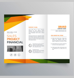 Trifold brochure template presentation with vector