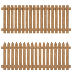 Wooden fence isolated on background wooden fence vector