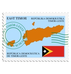 Mail to-from east timor vector