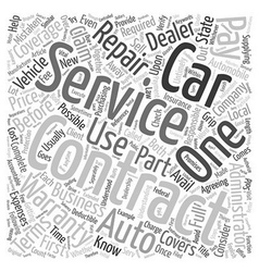 Car service contracts full service or foolish vector