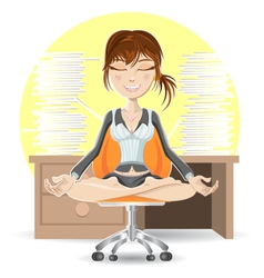 Meditation At The Office vector image