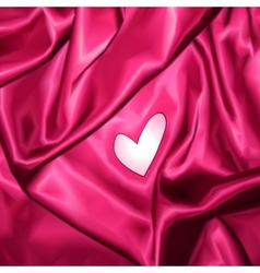Smooth elegant pink silk with heart vector
