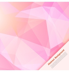 Abstract background polygon pink and card vector