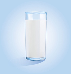 Milk glass vector