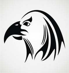 Eagle head tribal vector