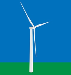 Wind turbine in the field vector