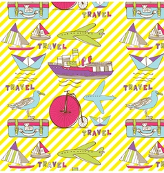 Vintage travel wallpaper vector