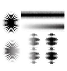 6 circular fades vector