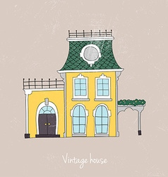 Hand drawn vintage homes vector image