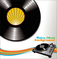 Retro music background vector