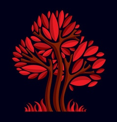 Artistic stylized natural design symbol creative vector