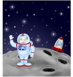 Astronaut landing on the moon vector