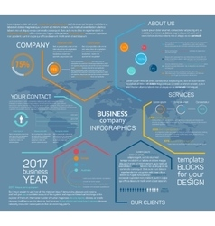 Business company infographics chart diagram vector