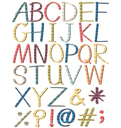 Colorful letters of the alphabet vector