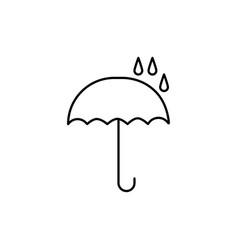 drops on umbrella icon vector image