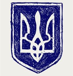 Emblem of Ukraine vector image vector image
