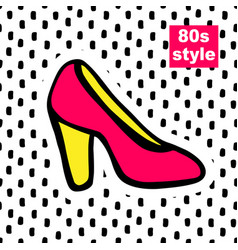 Fashion card in pop art vector