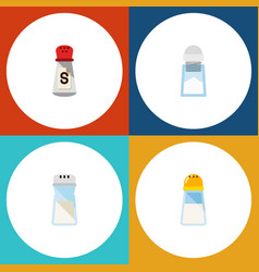 flat icon sodium set of saltshaker salt sodium vector image vector image