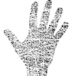 grunge hand vector image vector image