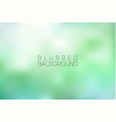 Horizontal wide green blurred background sunset vector