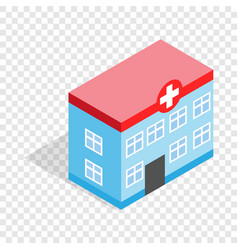 Hospital building isometric icon vector