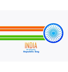 Indian republic day design made with line and vector