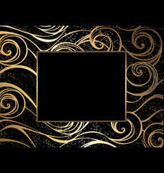 luxury sea background vector image vector image