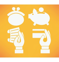 Money and banking vector