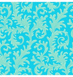 pattern baroque blue vector image vector image